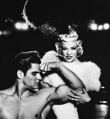 Mae West, actor, with Mr. America, New York, 1954. © The Richard Avedon Foundation