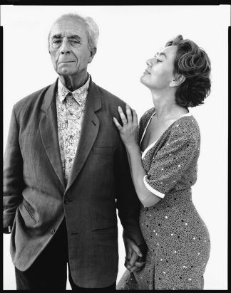 Michelangelo Antonioni, film director, with his wife Enrica, Rome, 1993. © The Richard Avedon Foundation