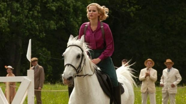 Taking melodrama by the reins: Jennifer Lawrence in Susanne Bier's delayed <em>Serena</em>.