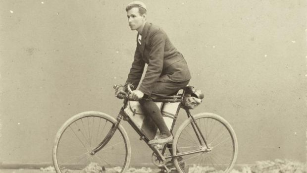 Arthur Richardson, the first person to ride a bicycle around Australia, 1897.