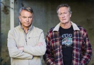 Old codgers: Sam Neill, who plays a retired policeman, and Bryan Brown, who plays a retired criminal, in <i>Old School</i>.