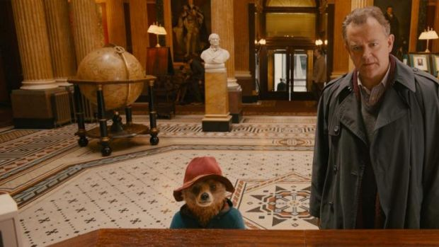 The odd couple: Mr Brown (Hugh Bonneville) is initially reluctant to let Paddington Bear come back to the family home.