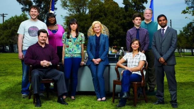 Absurd but loveable: The cast of <i>Park and Recreation</i>.
