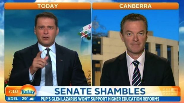 Karl Stefanovic is on a roll ... he's now grilled Christopher Pyne after Tony Abbott.