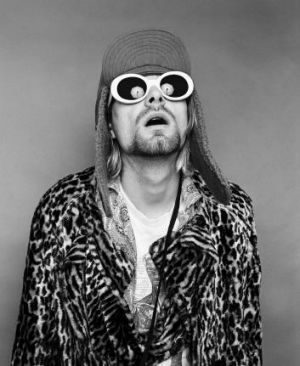 """Kurt Cobain: """"The glasses have turned him into a super-folk-hero, where he becomes sort of larger than life,"""" Frohman says."""