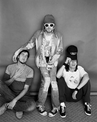 Krist Novoselic, Kurt Cobain and Dave Grohl.