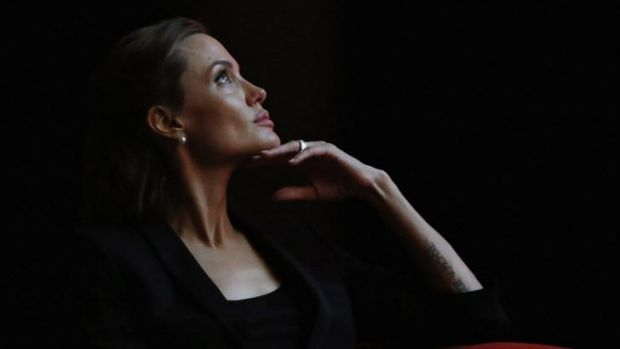 Angelina Jolie at the summit to end sexual violence in conflict in June.