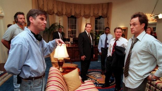 On the set of The West Wing.