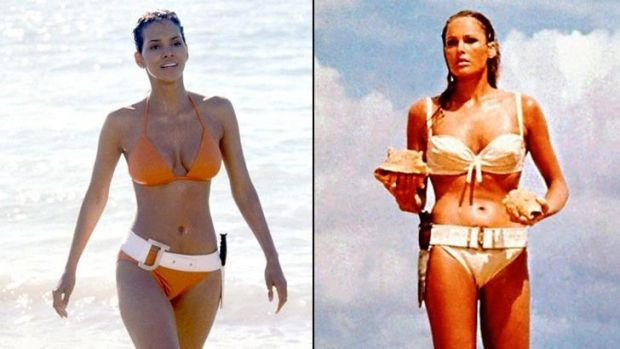 Bond girls: Halle Berry (Jinx) was 36-years-old to Pierce Brosnan's 49. While Ursula Andress (Honey Ryder) was 26 to ...