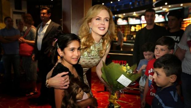 An important message: Nicole Kidman meets with  children and families from the Sydney Children's Hospital at a special ...