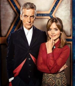 Peter Capaldi and Jenna Coleman in <i>Doctor Who</i>, which is freely available and delivered at the same time globally, ...