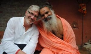 Exploring faith: Shaun Micallef (left) presents Stairway To Heaven, a documentary about Hinduism.