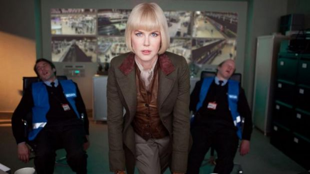 Glamorously evil:  Nicole Kidman as museum taxidermist Millicent in <i>Paddington</i>, after knocking out two security ...