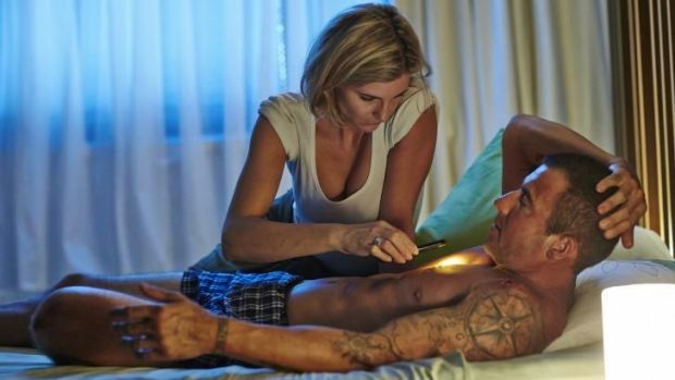 Feeble effort: Viva Bianca and Dominic Purcell in the 2014 remake of <i>Turkey Shoot</i>.