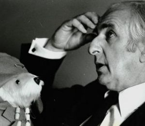 Michael Bond the author of <i>Paddington Bear</i> stories at the Menzies Hotels in Sydney today on the 27 August 1979.