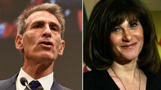 Sony Pictures Entertainment chiefs Michael Lynton dated November 18, 2014 in Tokyo and Amy Pascal dated March 6, 2007 in ...