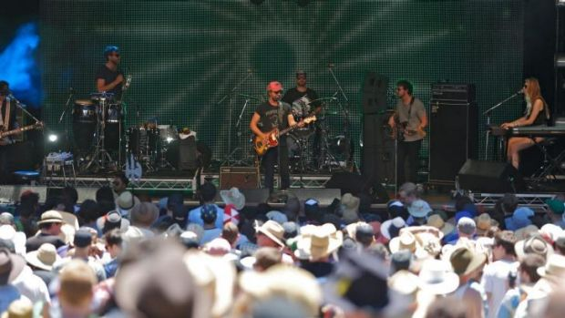 Afternoon groove: Phosphorescent on stage at the 24th Meredith Music Festival.