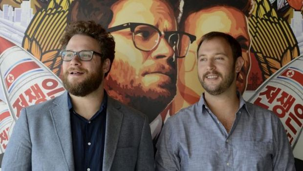Controversy: Seth Rogen (left)  and Evan Goldberg, wrote,  directed and produced <i>The Interview</i>.