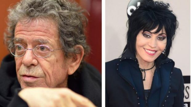 Lou Reed and Joan Jett are to be inducted into the Rock and Roll Hall of Fame.