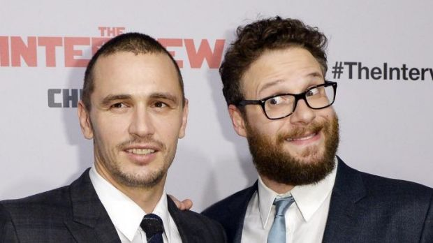 The Interview stars James Franco (L) and Seth Rogen.