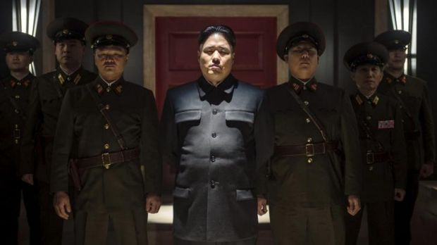 Randall Park, centre, portrays North Korean leader Kim Jong Un in Columbia Pictures' The Interview.