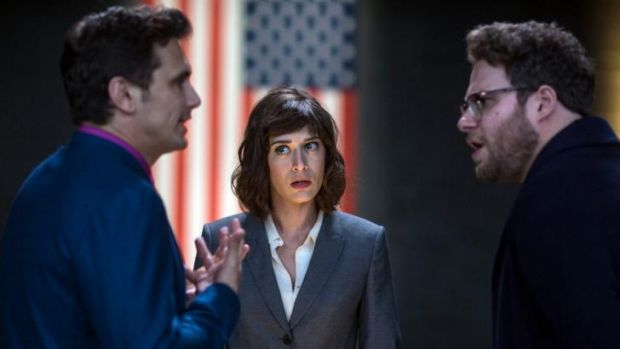 Shelved ... The Interview stars James Franco, Lizzy Caplan and Seth Rogen.