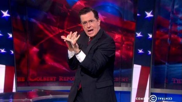 The finale of The Colbert Report had plenty of hilarious gimmicks.