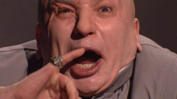 Mike Myers as Dr Evil has 'hacked' <i>Saturday Night Live</i>.