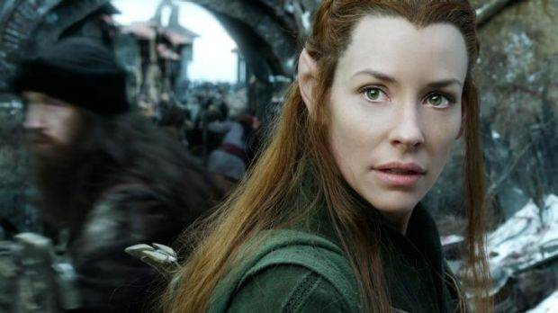 Love interest: Evangeline Lilly plays  Tauriel in <i>The Hobbit: The Battle of the Five Armies</i>.