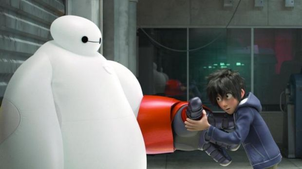 Future shock: In <i>Big Hero 6</i>, 13-year-old Hiro Hamada (voiced by Ryan Potter) becomes involved in the illegal and ...