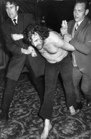 Joe Cocker is arrested at his motel after a wild Festival Hall concert in Melbourne in 1972.