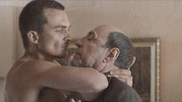 Peter Quinn (Rupert Friend) does not take well to Dar Adal (F. Murray Abraham) this season.