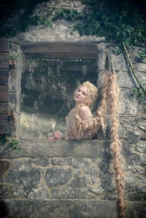 Hair raising: MacKenzie Mauzy stars as Rapunzel in Into the Woods.
