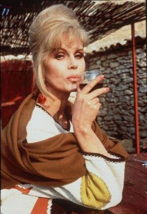 Sweetie: Joanna Lumley as Patsy in Absolutely Fabulous.