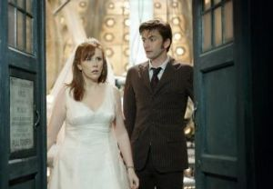 Timing: Catherine Tate with the tenth Doctor (David Tennant) in Doctor Who.