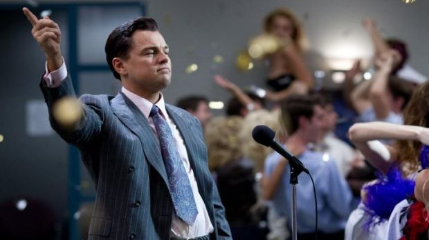 Popular with pirates: Leonardo DiCaprio in <i>The Wolf of Wall Street</i>.