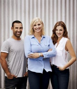 <i>Better Homes And Gardens</i> has new presenters Adam Dovile and Demi Harman joining host Johanna Griggs (centre).