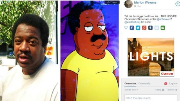 Pierre Daniel and Cleveland Brown comparison made by Marlon Wayans.