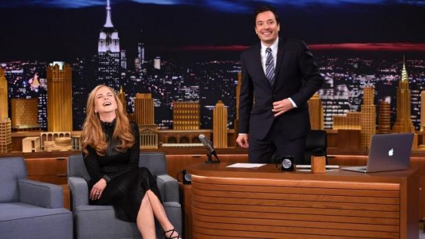 Red faces ... Nicole Kidman's version of her date with Jimmy Fallon was an embarrasssing and funny tale on the ...
