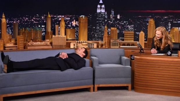 What might have been ... Jimmy Fallon pretends to get therapy from Nicole Kidman after she revealed she went to his ...