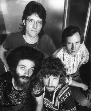 The on-air team: Clockwise from top left, Graham Berry, Iven Walker, Holger Brockmann and Chris Winter in January 1975.