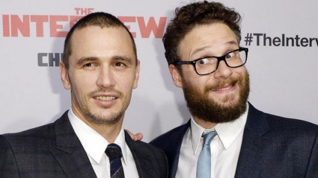 James Franco (L) and Seth Rogen's <i>The Interview</i> will surely get a Guernsey in jokes at the Golden Globes.
