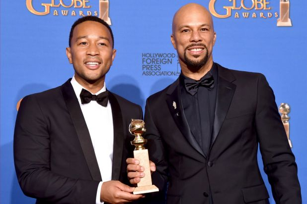 John Legend and Common, winners of the best original song award for <i>Glory</i> from the film <i>Selma</i>