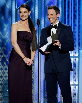 Katie Holmes and Seth Meyers.