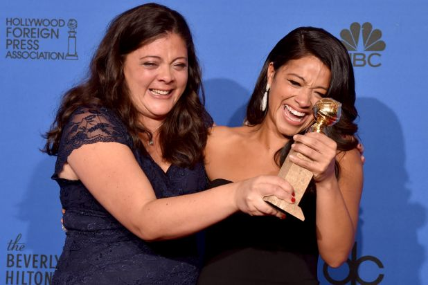 Award winner Gina Rodriguez with her sister Ivelisse Rodriguez.
