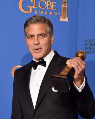 George Clooney was presented with the Cecil B. DeMille award.
