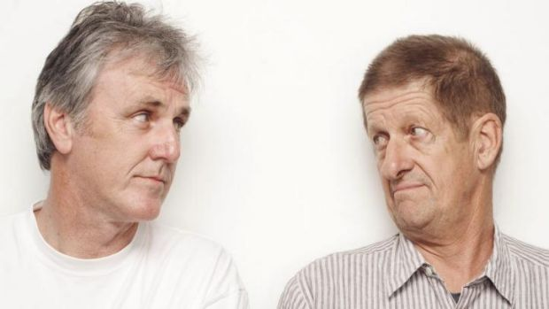 Comic act: John Doyle and Greig Pickhaver have built a long career as long-winded sports commentators Roy Slaven and HG ...