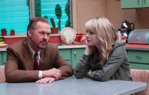 Struggling to connect: Michael Keaton, left and Emma Stone deliver strong performances in <i>Birdman</i>.