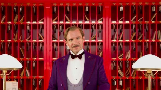Ralph Fiennes as legendary concierge Gustave H in <i>The Grand Budapest Hotel</i>.