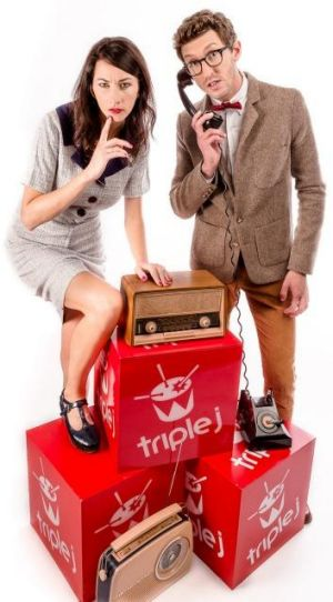 Get your vote in before Sunday: Triple J hosts Veronica Milsom and Lewis Hobba.